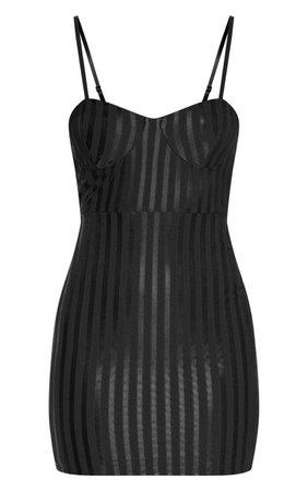Magenta Strappy Striped Bodycon Dress | PrettyLittleThing USA