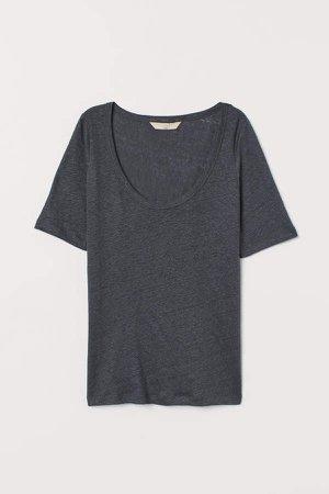 Linen T-shirt - Gray