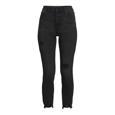 Time and Tru Women's High Rise Skinny Jeans - Walmart.com