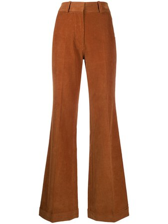 Victoria Beckham, high-rise Flared Corduroy Trousers Pants