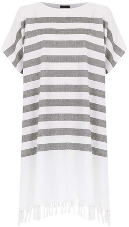 striped loose-fit dress