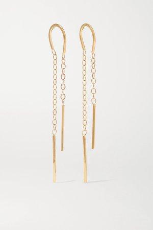Gold 14-karat gold earrings | Melissa Joy Manning | NET-A-PORTER