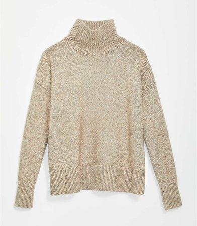 Drop Shoulder Turtleneck Sweater | LOFT