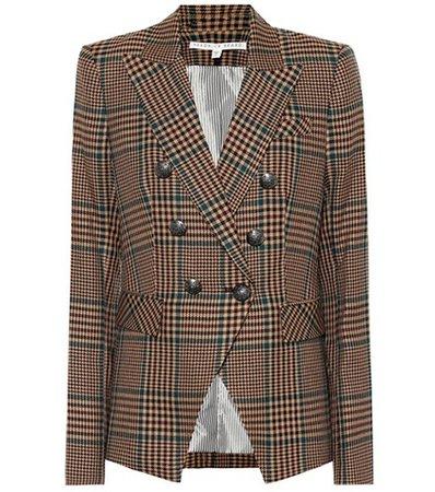 Miller checked wool-blend blazer