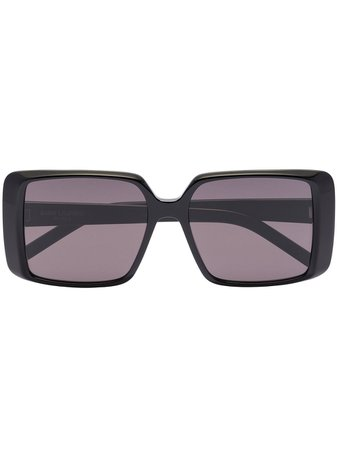 Shop Saint Laurent Eyewear SL Icon rectangular-frame sunglasses with Express Delivery - FARFETCH