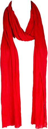 """Plain solid Color Scarf, more than 40 colors, 76"""" long, 14"""" wide (#54 Christmas Red) at Amazon Women's Clothing store"""