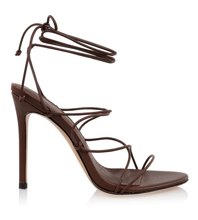 Shoes : 'Tao' 100 Chocolate Leather Barely There Sandal