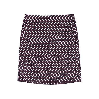 Patterned satin mini skirt from SJSJ