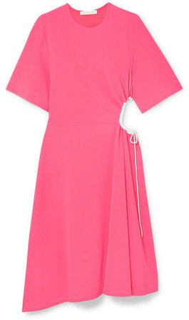 Cutout Stretch-crepe Dress - Pink