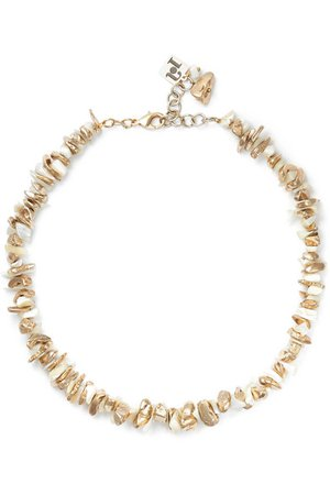 Rosantica | Gold-tone mother-of-pearl necklace | NET-A-PORTER.COM