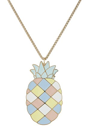 Pineapple Pendant Necklace Gr. One Size