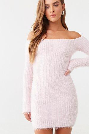 Fuzzy Off-the-Shoulder Dress   Forever 21