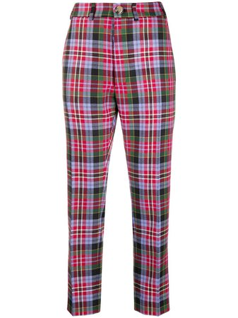 Vivienne Westwood check-pattern Cropped Trousers - Farfetch