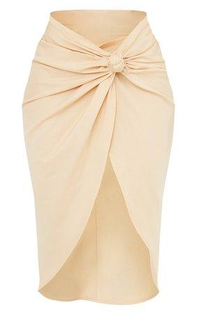 Stone Sarong Midi Skirt   Skirts And Shorts   PrettyLittleThing USA