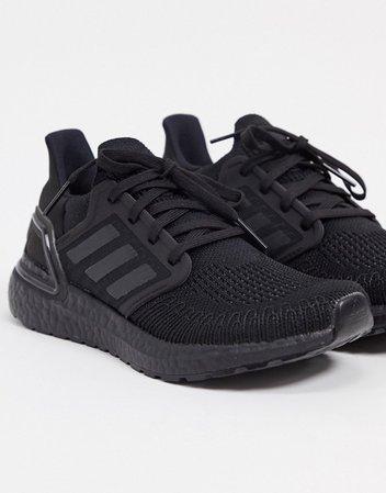 adidas Running Ultraboost 20 in black | ASOS