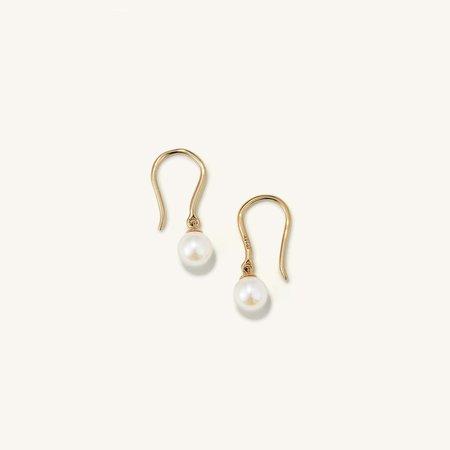 Fishhook Pearl Earrings | Mejuri
