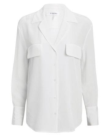 Silk Blanc Blouse | INTERMIX®