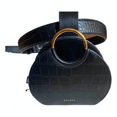 Numéro six ceinture leather handbag Polene Black in Leather - 11126082