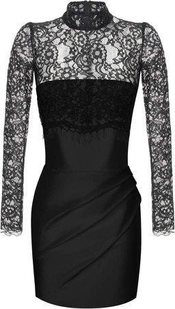 Silk And Lace Corset Mini Dress