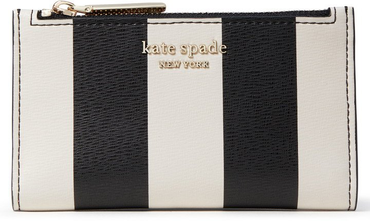 Spencer Stripe Small Leather Bifold Wallet