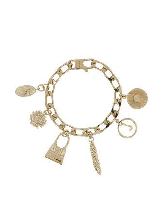 Jacquemus Jacquemus charm bracelet gold 203JW27203500200 - Farfetch