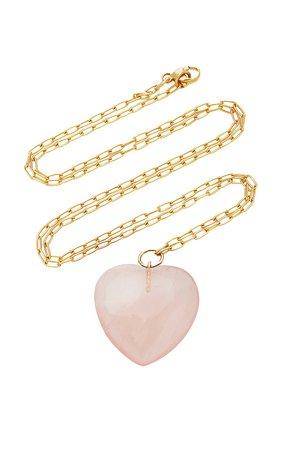 18K Gold And Quartz Necklace by Haute Victoire | Moda Operandi