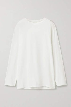 Autie Cotton-jersey Top - White