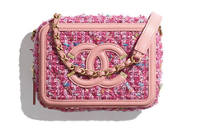 bright pink tweed chanel bag