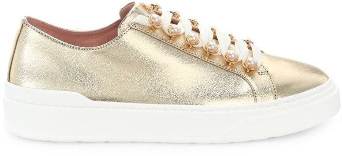 Excelsa Metallic Leather Sneakers