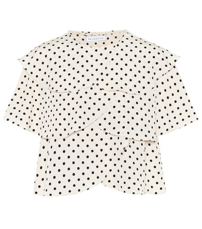 Jude flounced polka-dot top