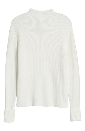 Rachel Parcell Funnel Neck Ribbed Sweater (Nordstrom Exclusive) | Nordstrom