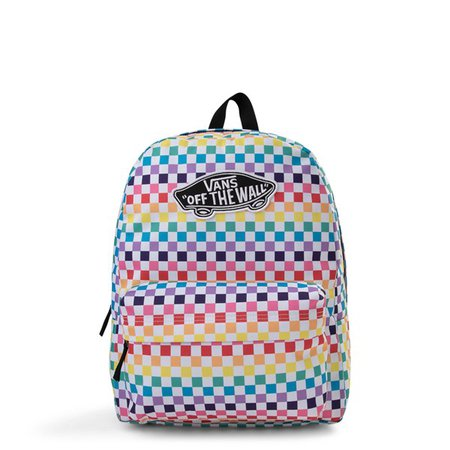 Vans Rainbow Checkerboard Realm Backpack - Multi | Journeys