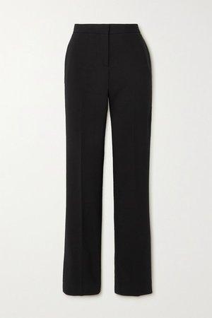 Wool-blend Slim-leg Pants - Black