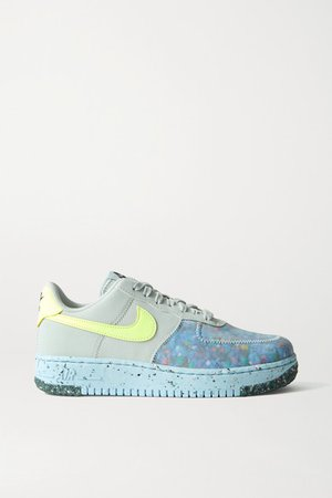 Air Force 1 Crater Faux Leather And Mesh Sneakers - Gray