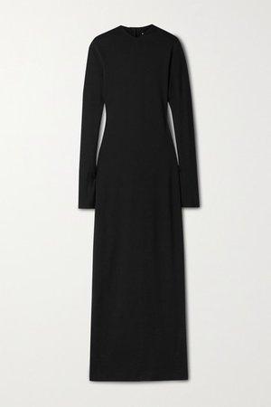 Crispiano Stretch-jersey Maxi Dress - Black
