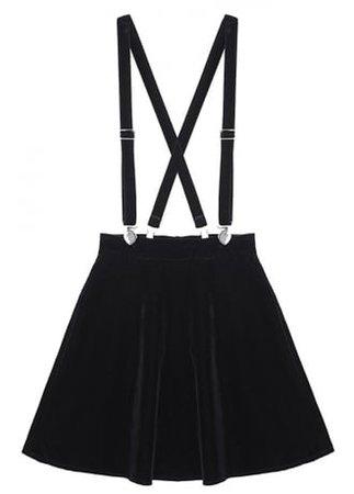 Punk Love Velvet Skirt