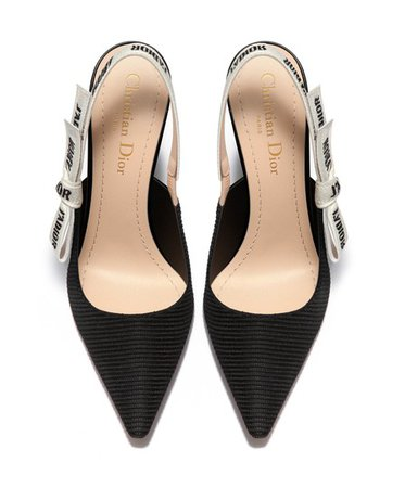 Dior   J'adior fabric slingback kitten heels