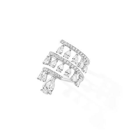 Ring Diamond Whirl : Ring in white gold   Messika