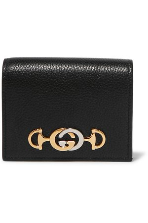 Gucci | Zumi small embellished textured-leather wallet | NET-A-PORTER.COM