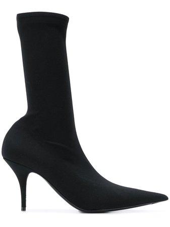 Balenciaga Knife Crepe Jersey Boots - Farfetch