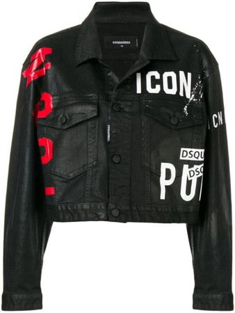 Dsquared2 Icon Cropped Jacket - Farfetch
