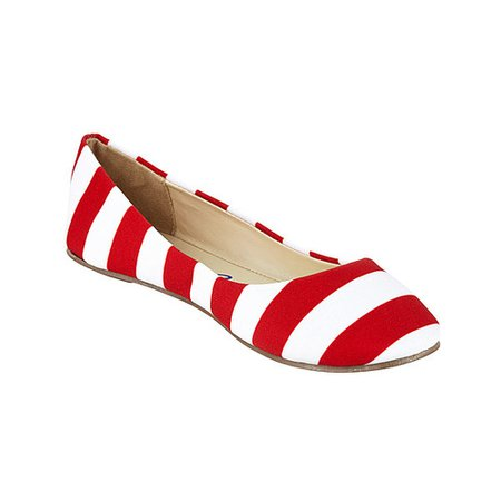 Red/White Striped Candy Cane Flats