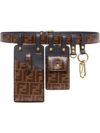 Fendi FF motif multi-pouch belt  - Buy Online - Mobile Friendly, Fast Delivery