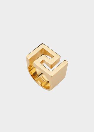 Chevalière motif Greek Key
