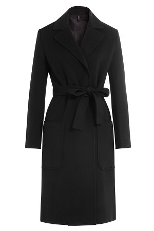 Wool-Cashmere Belted Coat Gr. M