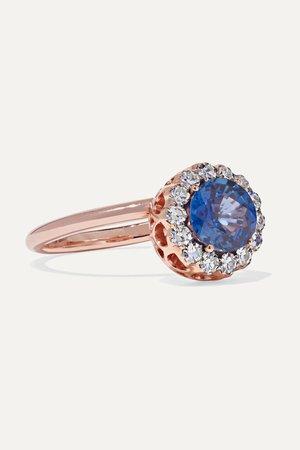 Rose gold Beirut 18-karat rose gold, sapphire and diamond ring | Selim Mouzannar | NET-A-PORTER