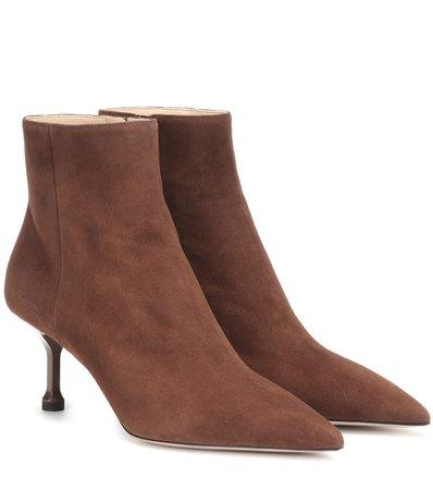 Suede Ankle Boots   Prada - Mytheresa