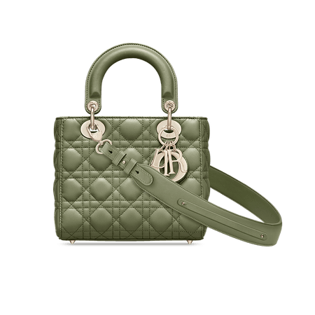 Dusty Jade Lady Dior Lambskin Bag Women's Fashion