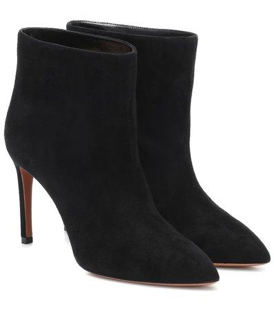 Alaïa - Suede ankle boots   Mytheresa
