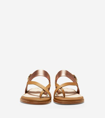 Women's Anica Thong Sandals in Gold | Cole Haan